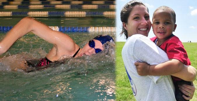 Baruch's Alyssa Lubrino - All Business in the Pool